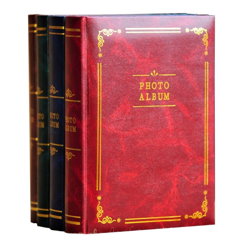 Retro PU kitab modeli 5 düym-6 düym-7 düymlük foto albom daxil - Ev dekoru - Fotoqrafiya 1