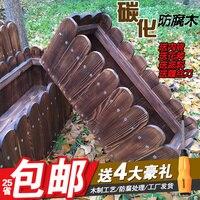 Box Carbonized Wood Preservative Shavings Large Pots Rectangular Balcony Bonsai Planting Vegetables Wooden Box Pot Planters