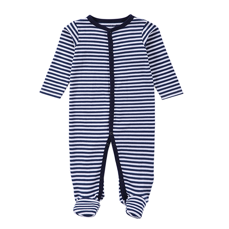 2017 Newborn Rompers Baby Boy Pakaian Long Sleeve Cotton Body Baby Girl Clothing Black Stripped Autumn Baby Baby Romper Clothing
