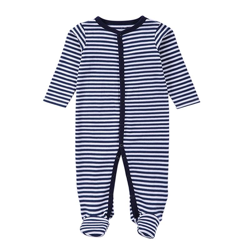 2017 Vastsündinud romperid Baby Boy riided pikkade varrukatega puuvillase keha beebitüdrukute riided Black Stripped Autumn Baby Romper rõivad
