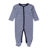2016 Newborn Rompers Baby Boy Clothes Long Sleeve Cotton Body Bebe Baby Girl Clothes Black Stripped