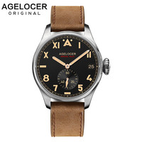 AGELOCER-reloj deportivo informal para hombre, cronógrafo con números romanos, de acero inoxidable, con bisel
