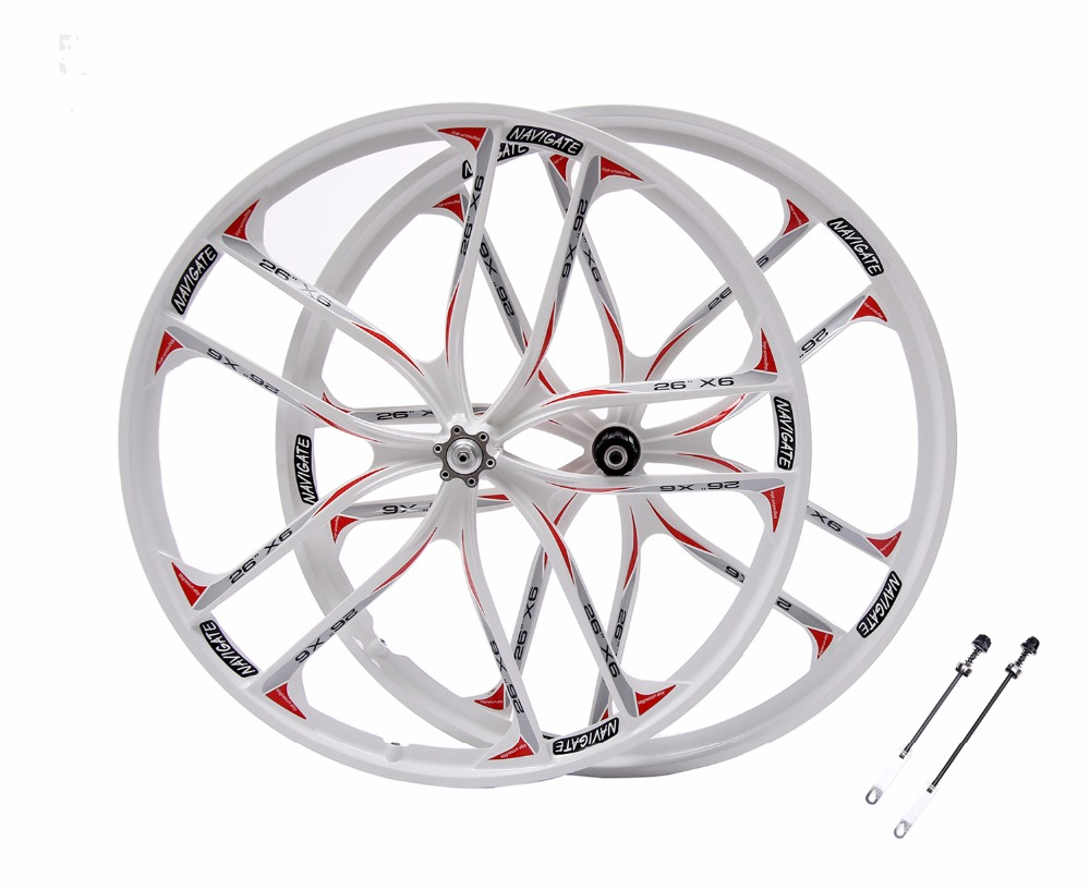 MTB 5 spokes mountain bike wheels magnesium alloy 26 speeds wheels 26 quot 27 5 quot inches Mountain Bicycle Wheel parts bike rims in Bicycle Wheel from Sports amp Entertainment