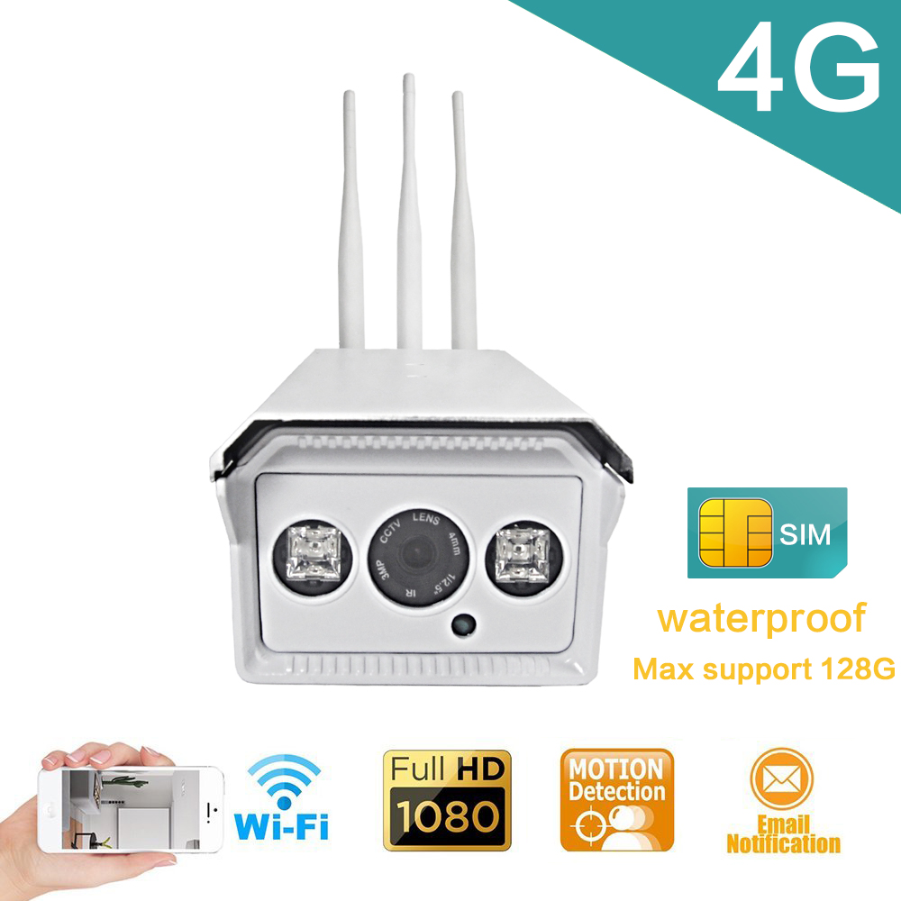 1080P/960P/720P Bullet IP Camera Wireless 3G 4G LTE SIM Card IP Camera Wifi Outdoor Waterproof Night Vision Surveillance Camera wistino 1080p 960p wifi bullet ip camera yoosee outdoor street waterproof cctv wireless network surverillance support onvif