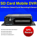 GPS Mobile DVR, H.264 4CH car dvr ,I/O,G-sensor,Vehicle DVR, DC 8-36V MDVR ,support Dual SD Card Up to 128G free shipping