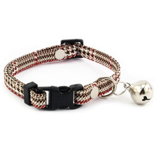 Houndstooth Collar for Small Dogs with Bell Fashion Dog For Puppies Cats Female Accessories Pet Products
