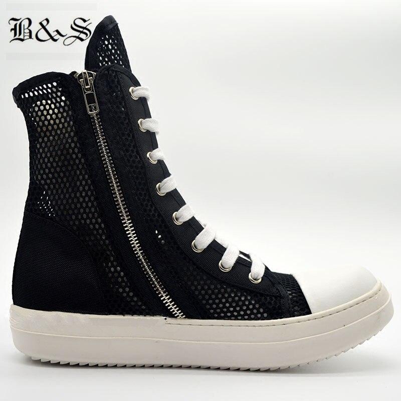 Hop Hip Verano De Negro Entrenador Amantes Altas Moda Y Nylon Hueco Black Roca Zapatos Botas Calle 2018 Respirable Lujo qBBw7PRWg8