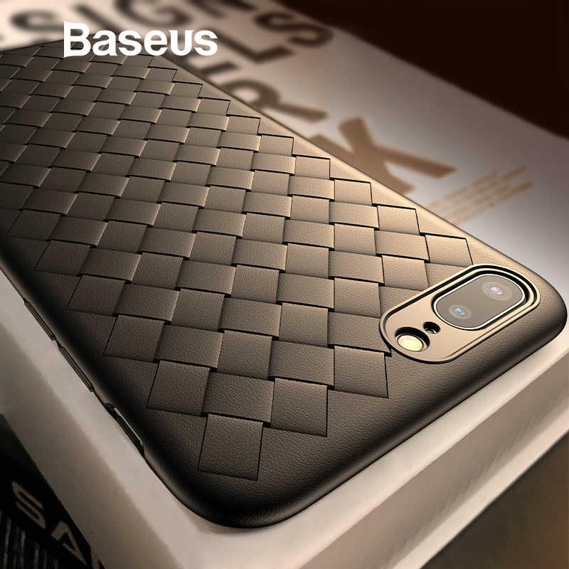 Чехол для телефона Baseus для iPhone 8, 7, 6 s, 6s Plus, 8 plus, 7 plus, роскошный, BV, плетение, сетка, силиконовая задняя крышка для iPhone x, 8 p, Coque Fundas