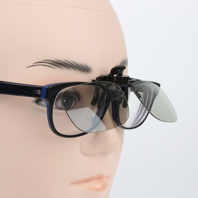 2019 Clip On Type Passive Circular Polarized Universal 3D Glasses Clip For Movie Game DVD Video TV Diffraction Glasses