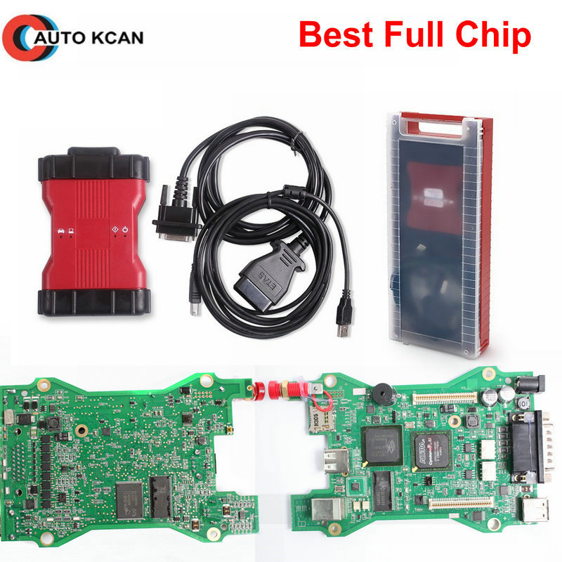 UM Chip de Qualityfull ++++ 2 para vcm ii ids VCM V101 scann ferramenta vcm2 obd2 ferramenta de diagnóstico do carro Da Caixa ou caixa de plástico