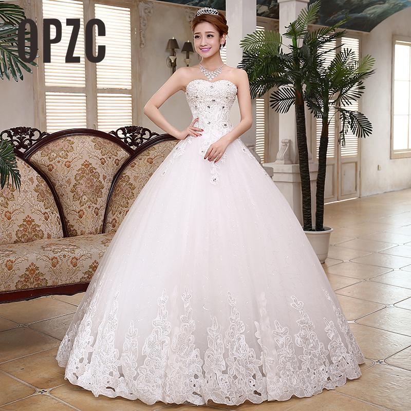 Girls Luxury Diamond A Line Wedding Dress 2018 Modern