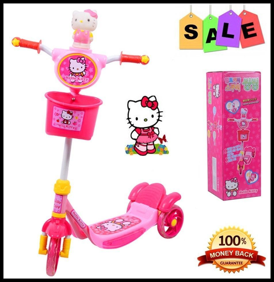 Hello Kitty Toddler Kid Child Scooter 3 Wheel Ride On Toy Outdoor