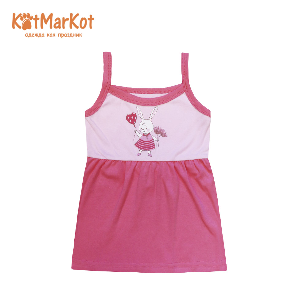 Фото - Dresses Kotmarkot 16859 shirt baby dress for a girl tunic summer  Cotton Casual plus lace insert floral tunic dress