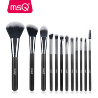 MSQ Professional 12pcs Makeup Brush Set High Quality Powder Foundation Eye Shader Make Up Tools For