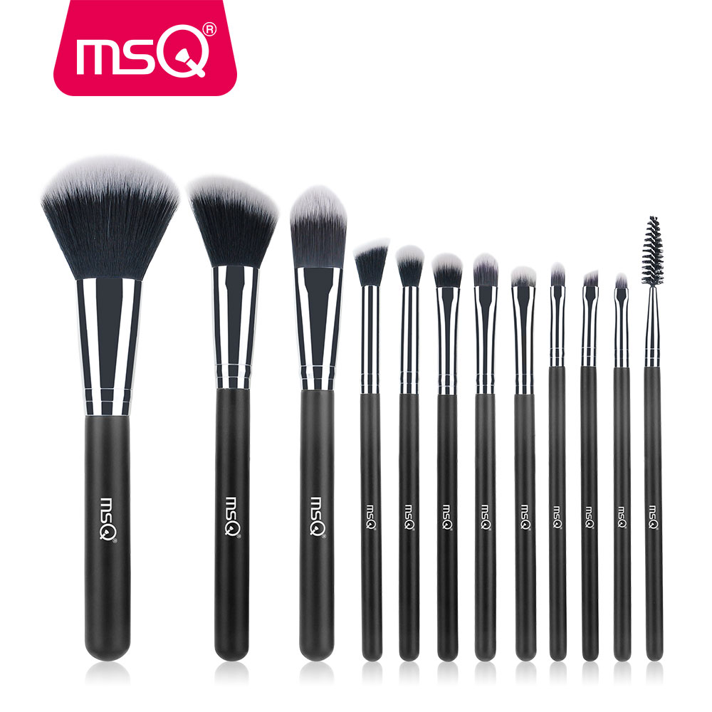 MSQ Professional 12pcs Makeup Brush Set High Quality Powder Foundation Eye Shader Make Up Tools For Classic professional makeup brush set 12pcs high quality makeup tools