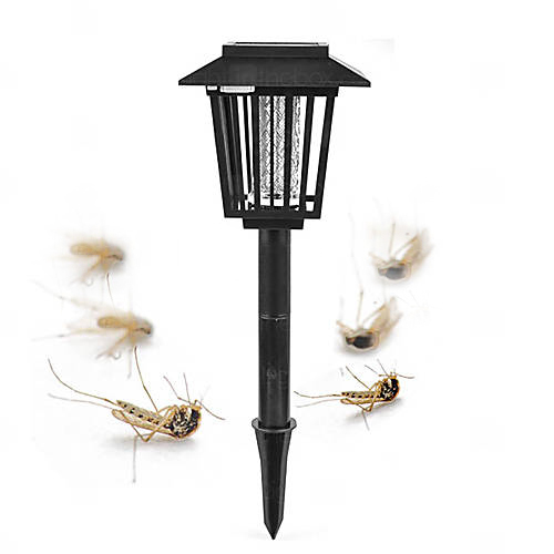 Solar Powered Mosquito Repellant Bug Zapper Pest Killer Garden Stake LED Lamp tetra rubin корм для рыб для усиления окраски гранулы бн 250 мл