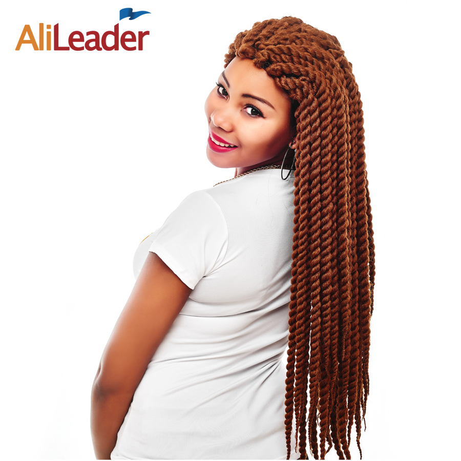 "AliLeader 7 Colors Havana Twist Crotchet Braids Cute Short 12 Inch Kanekalon Synthetic Hair Long 18"" 22"" Jumbo Braid 4Pcs/Lot"