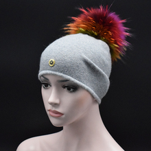High quality Ladies winter hats for Women gorros girls beanies Solid Color Casual Knit Cap Color