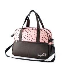 Insular Marke Mutterschaft Taschen Baby Mumie Windel Tasche Multifunktionale Mama Windel Handtasche Druck Baby Pflege Kinderwagen Tasche Mochila