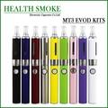 Venta caliente MT3 EVOD Kits de cigarrillos electrónicos 2.4 ml MT3 atomizador 650,900, 1100 mah EVOD batería Blister embalaje envío gratis