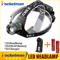 3800Lumen CREE XM-L T6 LED Headlamp Headlight Caming Hunting Head Light Lamp 3 Modes +2*18650 Battery + Charger
