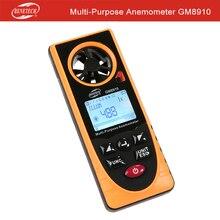 Многоцелевой Анемометр lux температура отношение скорости ветра GM8910 Benetech