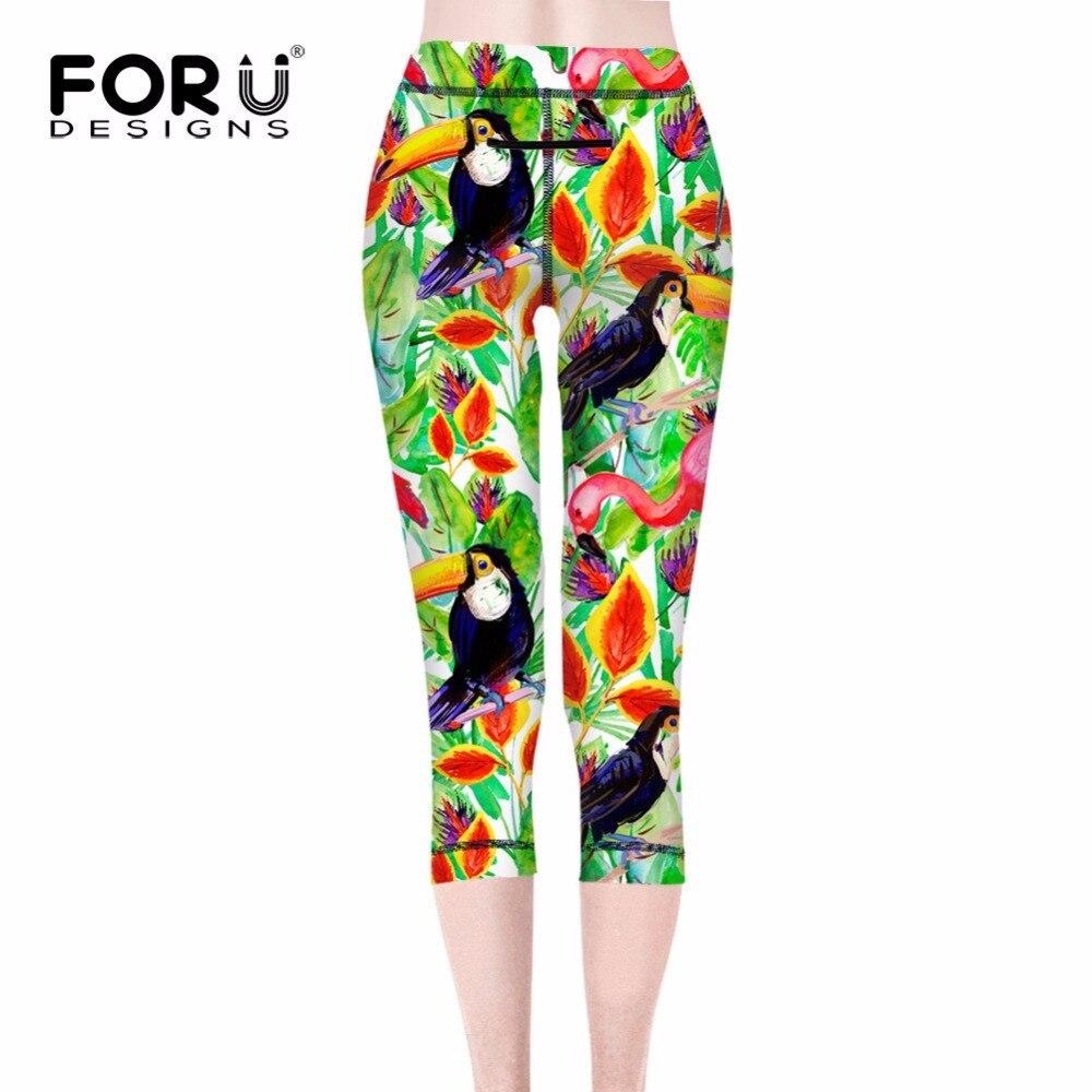 ccf0583959242 FORUDESIGNS Fashion Girl Legging Spandex 3D Print Floral Leggings Leggins Milk  Silk Women Pants Leaf Tetris Clothing Harajuku