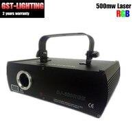 RGB 500 МВт лазерной анимации Освещение сцены DJ диодной накачкой твердотельный лазер