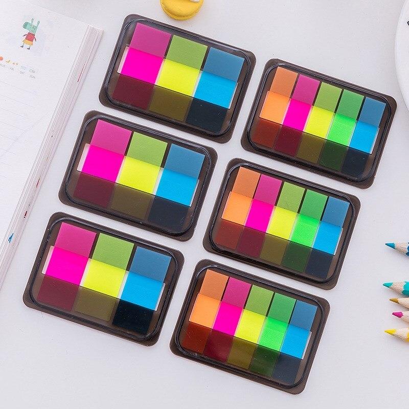 1 Pz Di Fluorescenza Di Colore Autoadesivo Memo Pad Sticky Notes Punto Marcatori Memo Adesivo Di Carta Ufficio Scuola Forniture Grande Assortimento