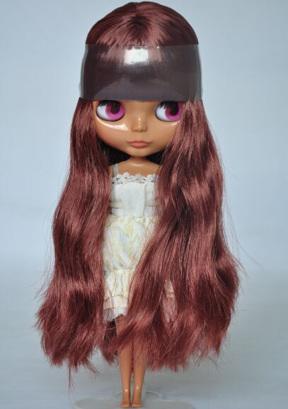 Free shipping Nude Blyth Doll, Brown  hair,dark skin, big eye doll,Fashion doll Suitable For DIY Change BJD , For Girl's Gift nude blyth doll with gold hair fashion doll suitable for diy change bjd for girl s gift free shipping pjj012