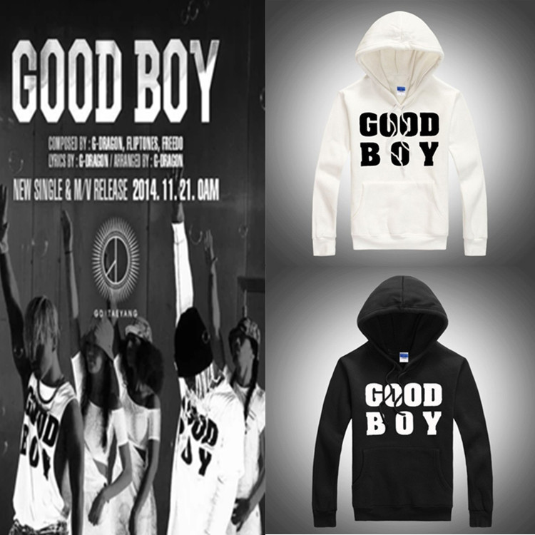 Kpop right Zhi Long good boy thick hooded dress shirts successful tool Bigbang k pop song cap baseball uniform hoodies wool GD