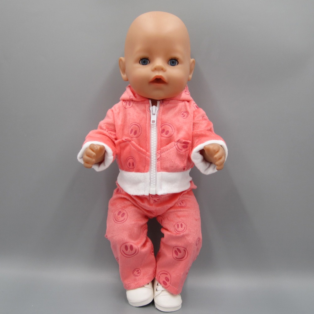 Detail Feedback Questions about Clothes for dolls fits 43 cm Baby Born zapf  baby doll accessories pink casual suit jacket set on Aliexpress.com  9485b6d299a1
