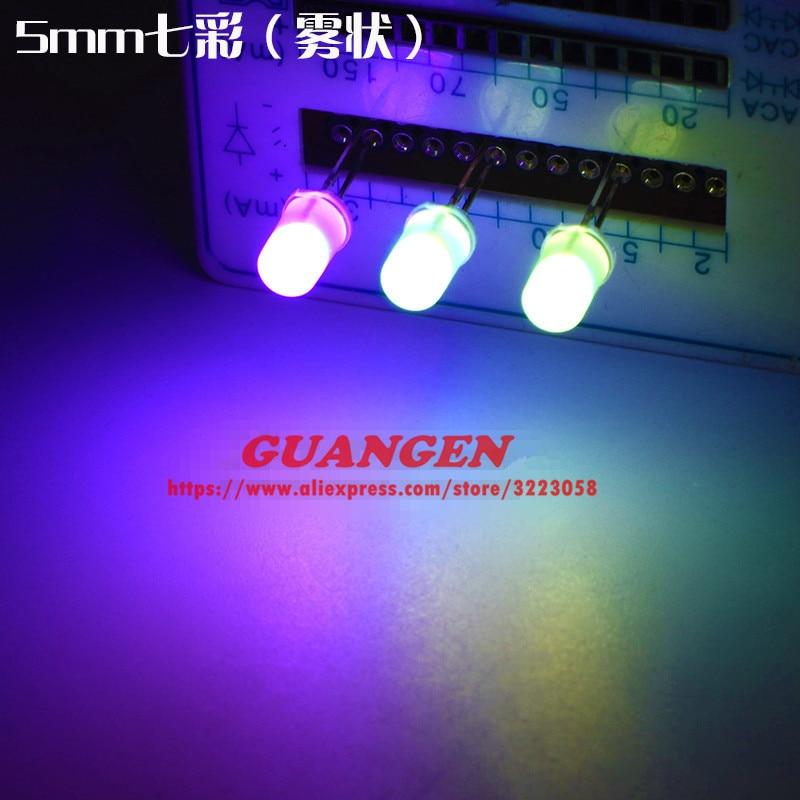1000PCS Diffused Fast Flashing F5 RGB Automatically Blinks