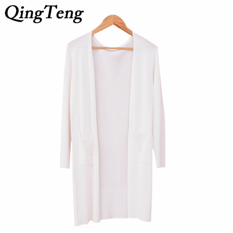 cardigan female Picture - More Detailed Picture about QingTeng 3/4 ...