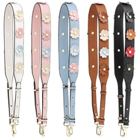 Flower Leather Shoulder Strap You Replacement Women Girls Bag Handle Strap Belt Shoulder Bag Parts Accessories Buckle Belts S136