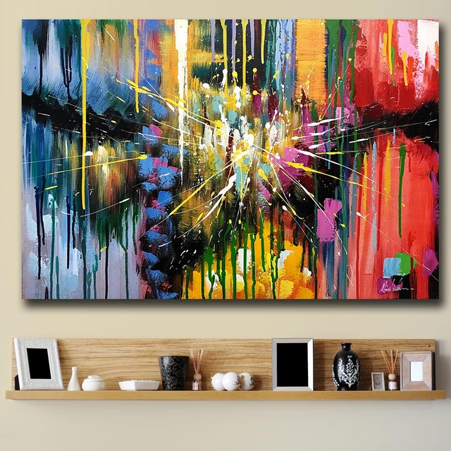 office graffiti wall. Mklql Graffiti Art Abstract Painting Colorful Canvas Wall Pictures For Living Room Office Bedroom Modern