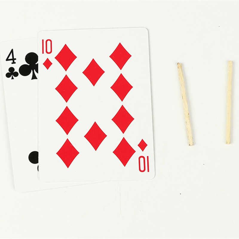 Дешевые 2017 новинка игрушки зубочистка матч на карты уличный бар трюк крупным планом Волшебные невероятные плавающие волшебные карты реквизит Горячая