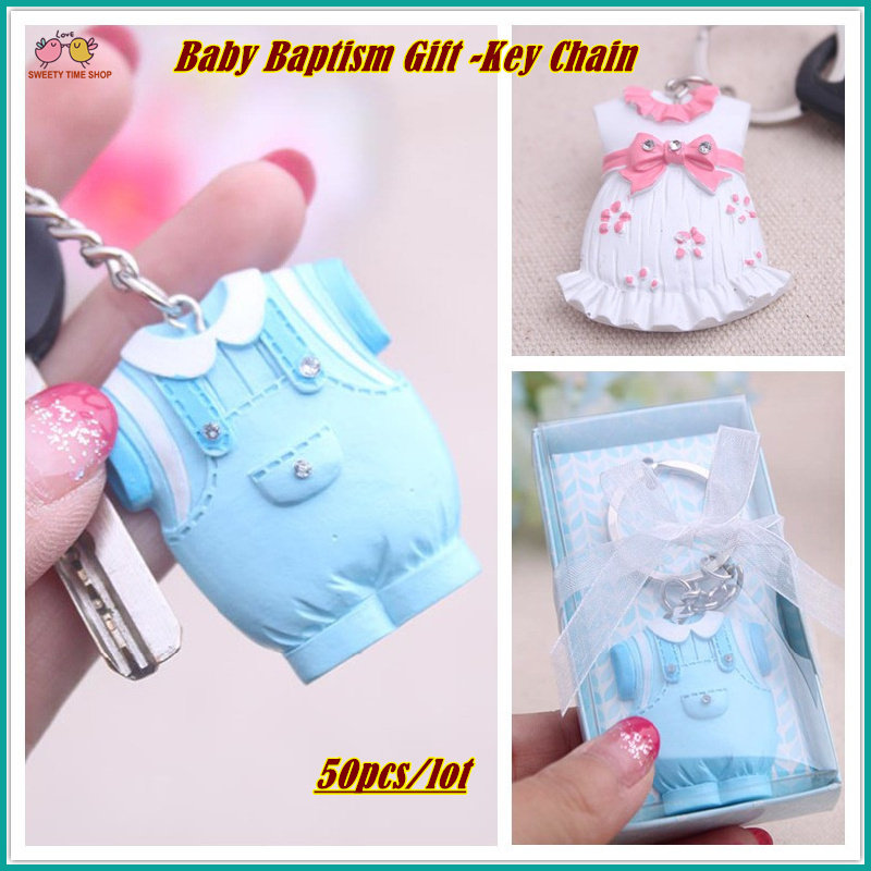 (50pcs/lot) Cute Baby Cloth Key Chain, Baby Baptism Gift For Baby Shower  Decoration, Return Gifts For Guests, In Pink Blue In Party Favors From Home  ...