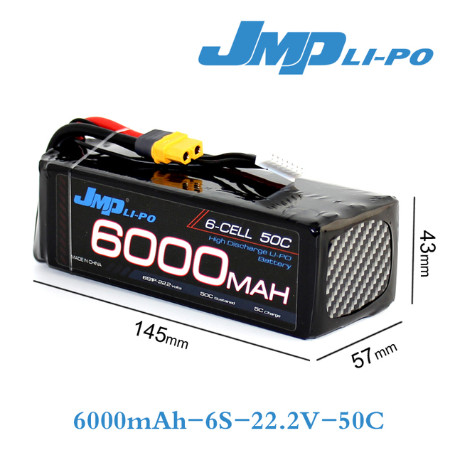 US $214 92 10% OFF|2pcs JMP Lipo Battery 6S 6000mAh Lipo 22 2V Battery Pack  50C Battery for Helicopters RC Models akku Li polymer Battery-in Parts &