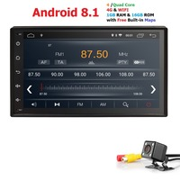 Hizpo автомобиль без DVD плеер 2din Android для Универсальный Toyota Corolla Auris gps навигация автомобильный мультимедийный плеер automotivo FM AM