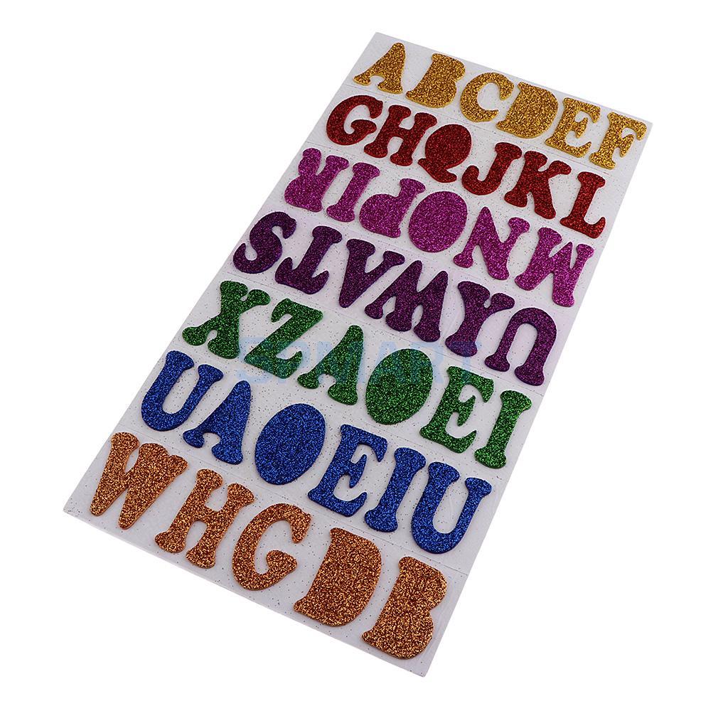 10 Sheets Foam Alphabet Capital Letters Self Adhesive Peel Stick