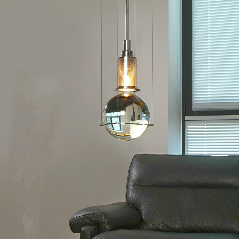 Modern minimalist K9 crystal ball chandelier restaurant cafe club model room living room bedroom bedside pendant lampModern minimalist K9 crystal ball chandelier restaurant cafe club model room living room bedroom bedside pendant lamp