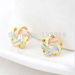 Free shipping new hot Fashion sweety beautiful women trendy wool earrings Bohemia cross stud jewelry for women