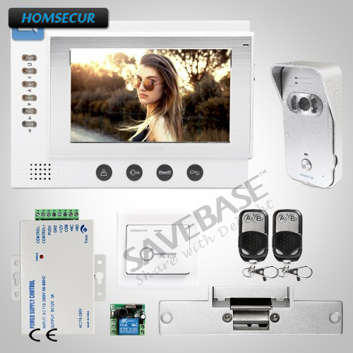 HOMSECUR 7 Video&Audio Security Intercom System with Video Recording Function 1V1+Strike ...