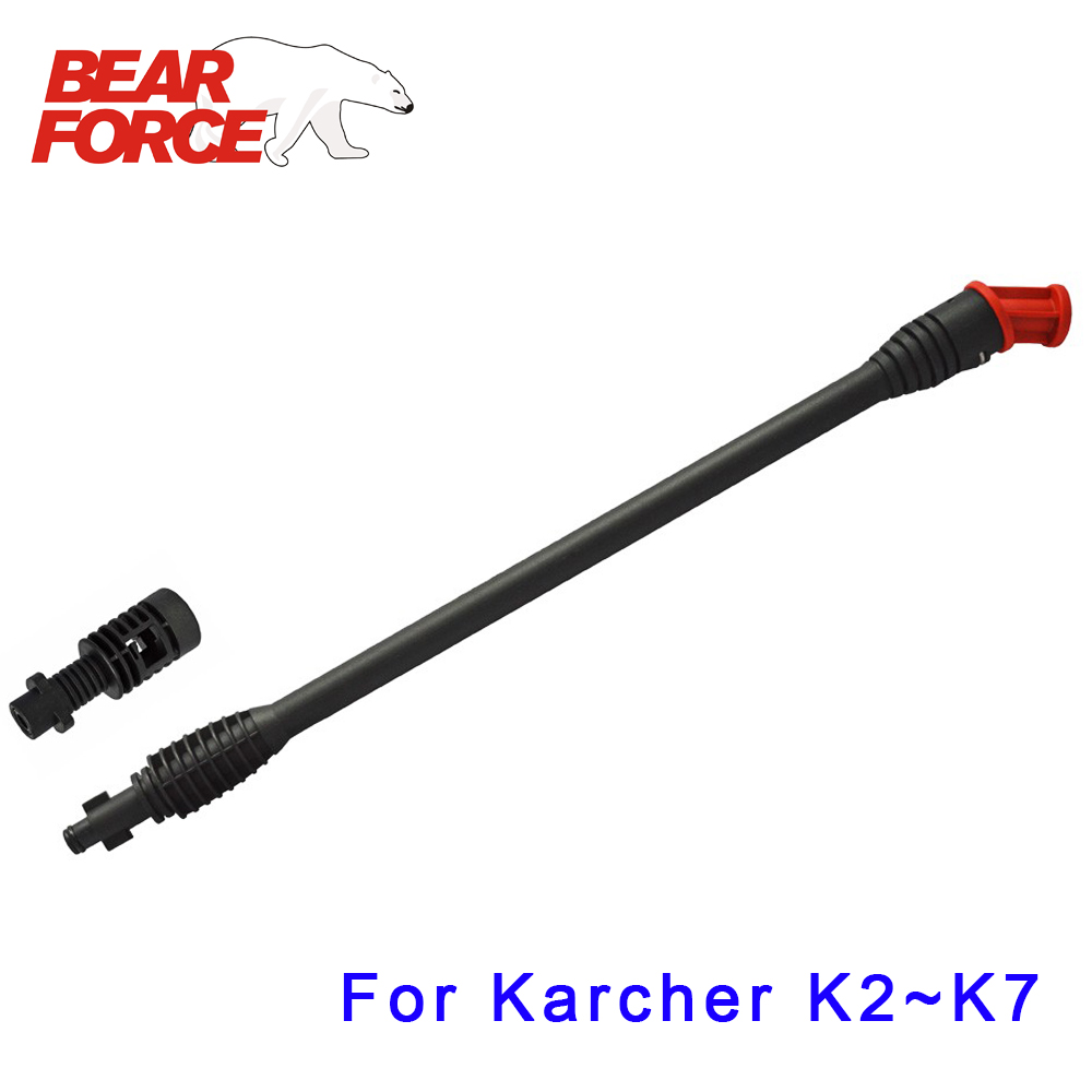 High Pressure Washer Wand Flexible Jet Lance Wand Nozzle Tip For Karcher Pressure Washer For Under Boday Car Wash Cleaning