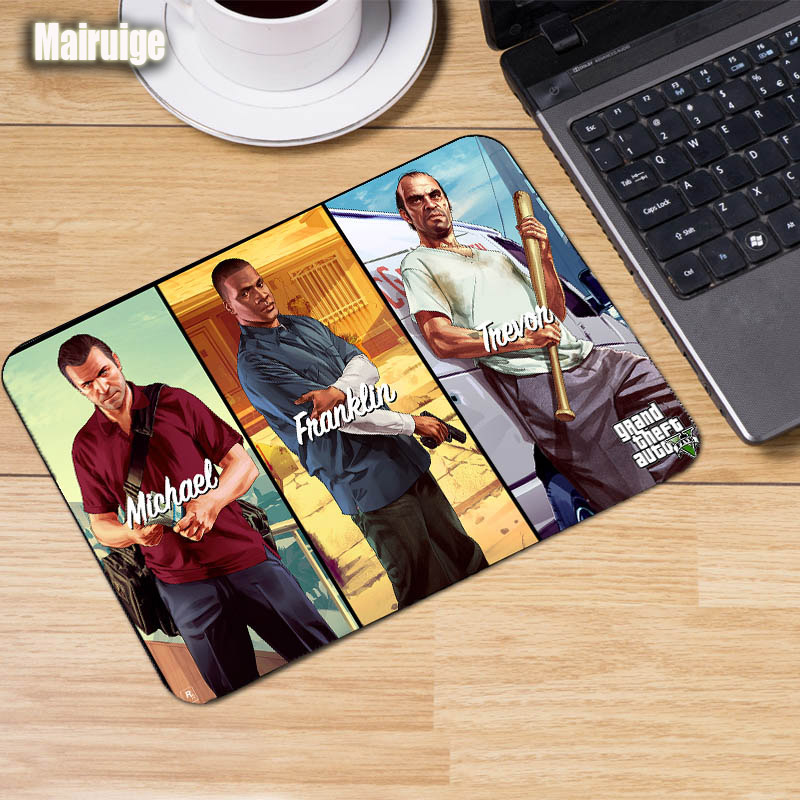 Mairuige Game Mousepad GTA5 Gaming Locked Edge Mouse Pad Grand Theft Auto V Art Painting CSGO LOL Keyboard Notebook Pc Mat