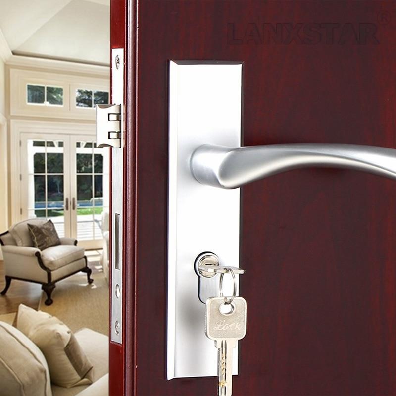 Factory Interior Door Lock Living Room Space Aluminum Mechanical Lockset Wholesale Quality Assuranced Handle Locks
