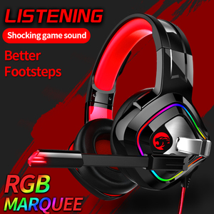 Image 4 - PS4 Gaming Headphones 4D Stereo RGB Marquee Earphones Headset with Microphone for New Xbox One/Laptop/Computer Tablet Gamer