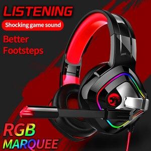 Image 4 - PS4 casque de jeu 4D stéréo RGB chapiteau écouteurs casque avec Microphone pour nouveau Xbox One/ordinateur portable/ordinateur tablette Gamer