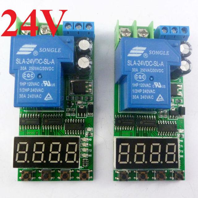 IO23C0124V2 2PCS DC 24V 30A 25 24V High Trigger Cycle Timer